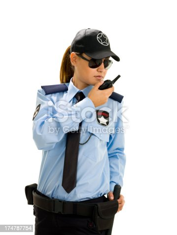 Woman security guard stock photo more pictures of 20 24 years istock - Security guard hd images ...