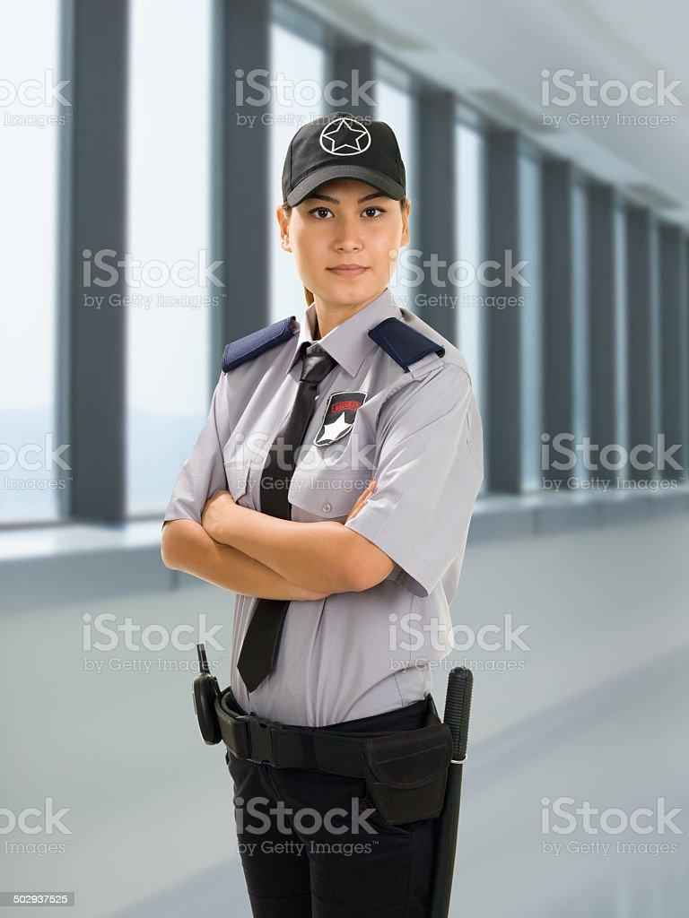 Woman Security Guard stock photo