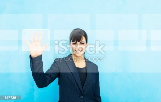 istock Woman selecting digital content 161773611