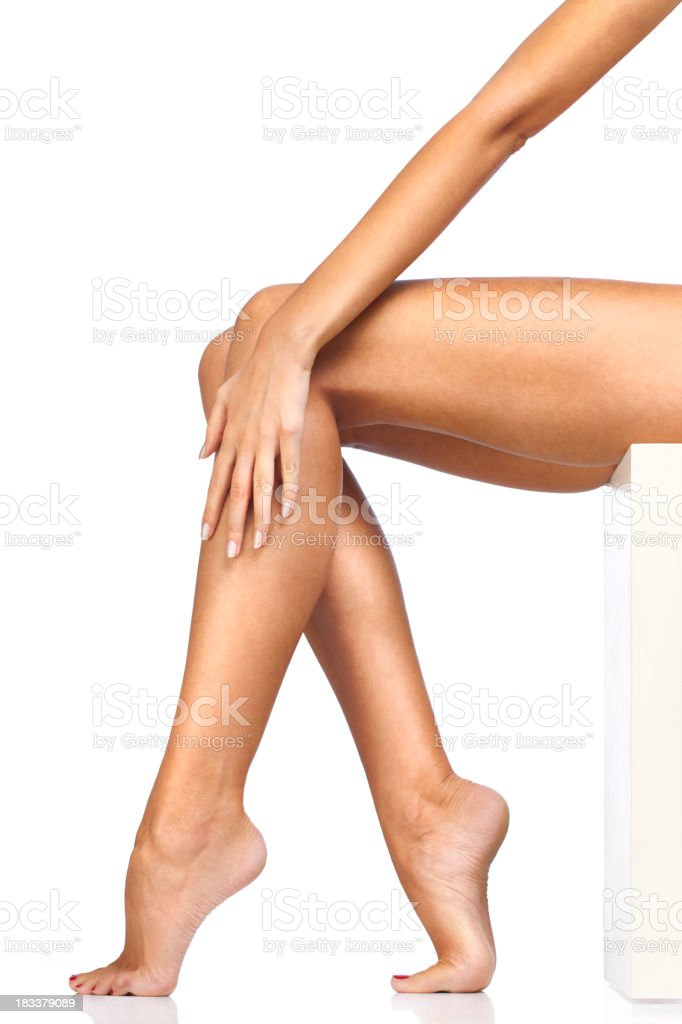 Woman Sexy Smooth Legs royalty-free stock photo