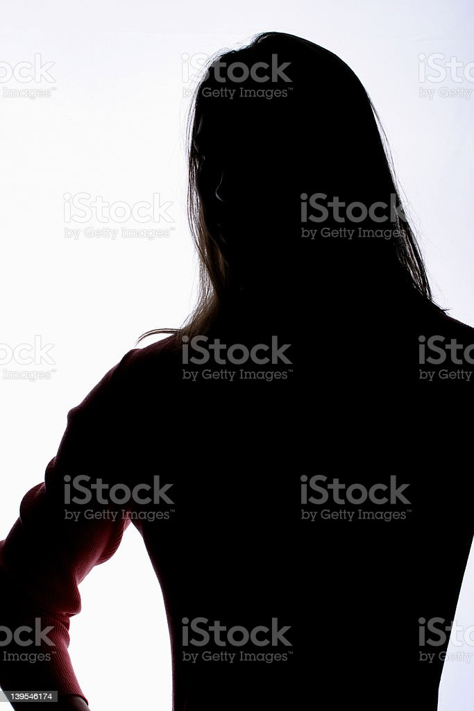 Woman Shadow2 stock photo