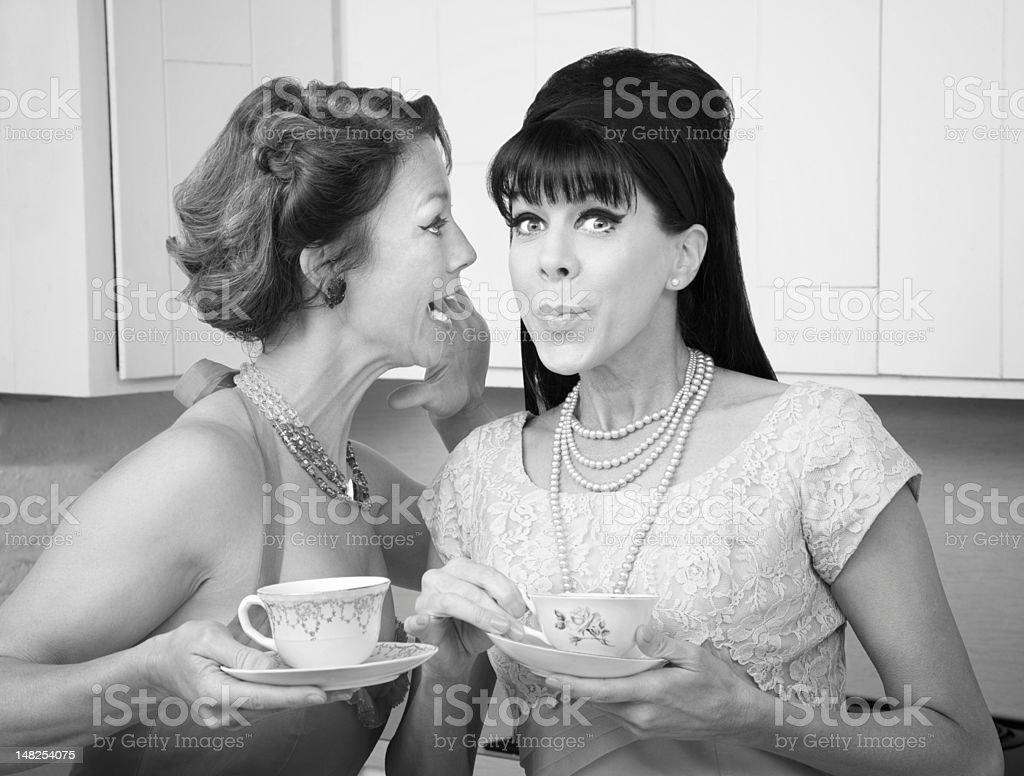 Woman Shares a Secret stock photo