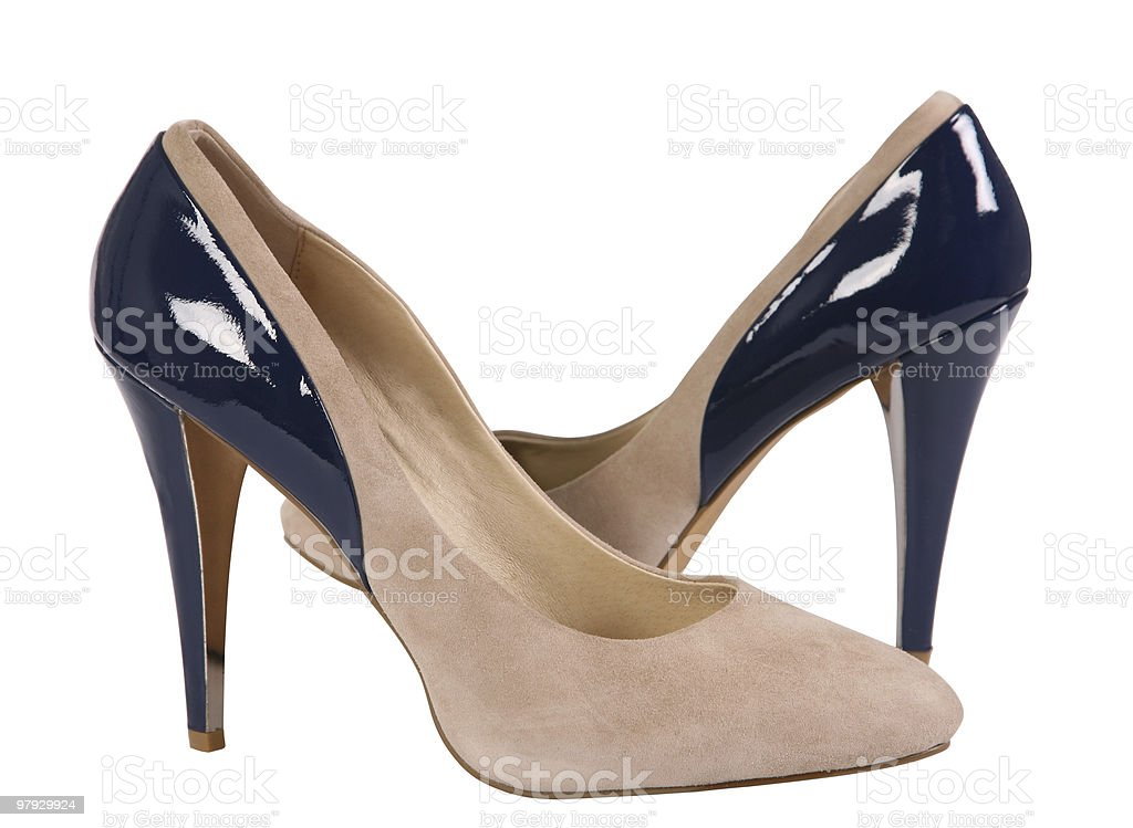 Woman shoe two color royalty-free stock photo