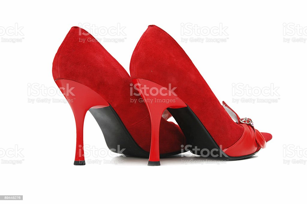 Woman shoes isolated on the white background royalty-free stock photo