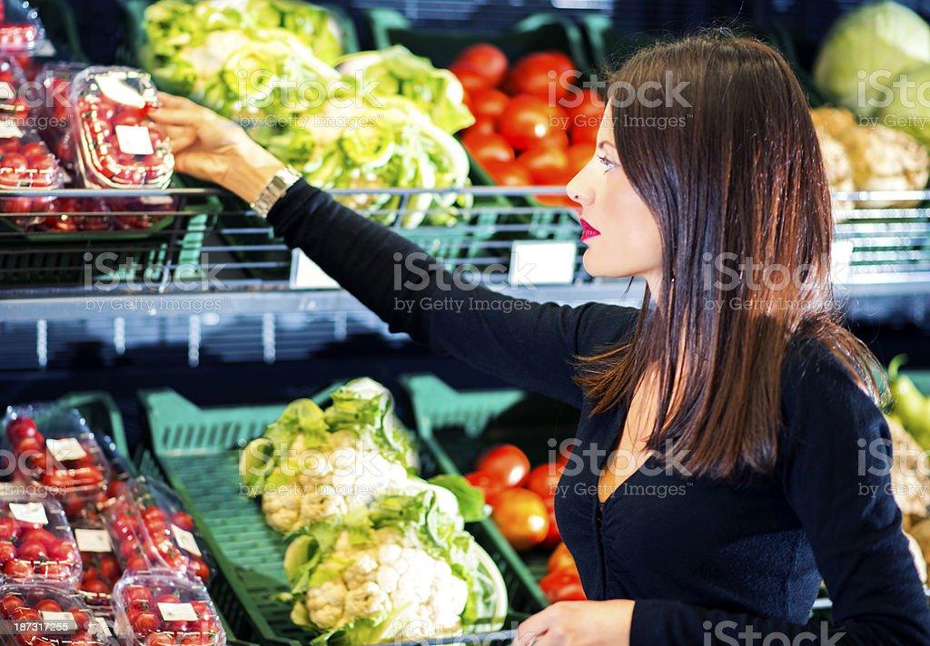 Woman Shopper cherry royalty-free stock photo
