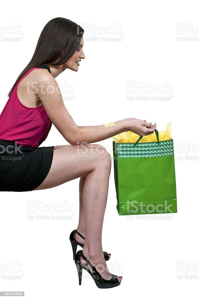 Woman Shopping Bags royalty-free stock photo