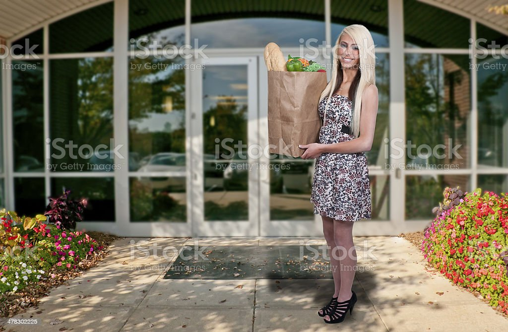 Woman Shopping Bags royalty-free stock photo
