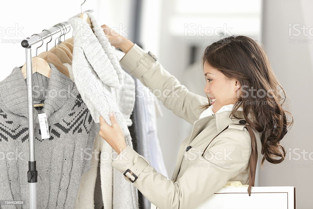 woman shopping clothes royalty-free stock photo