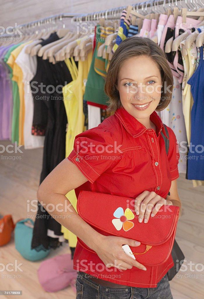 Mulher de compras de Mala foto de stock royalty-free