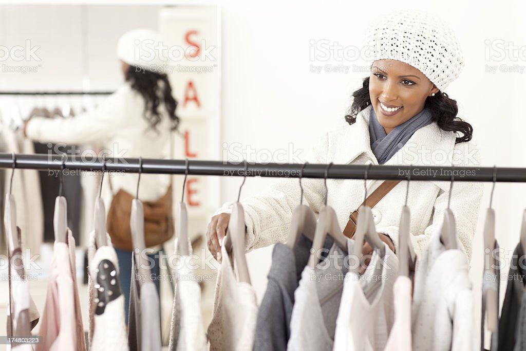 Woman shopping in a sale. royalty-free stock photo