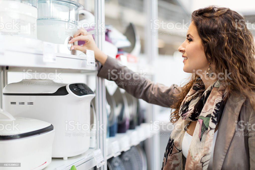 Woman Shopping Kitchen Appliances Stock Photo & More Pictures of ...