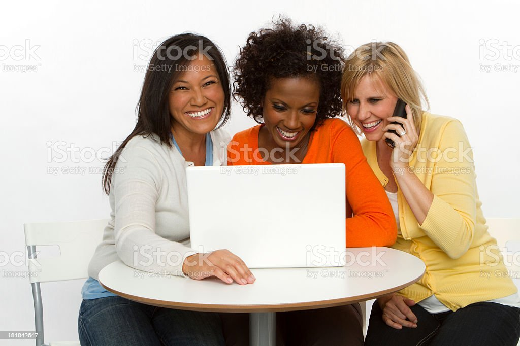 Woman Shopping Online royalty-free stock photo