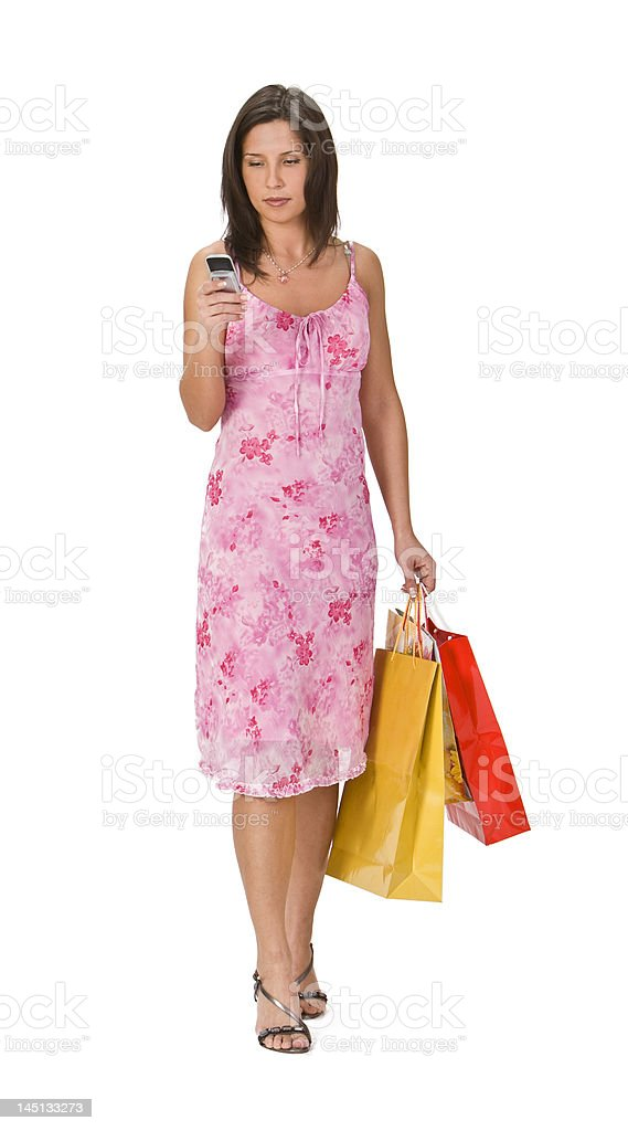 Woman shopping royalty-free stock photo