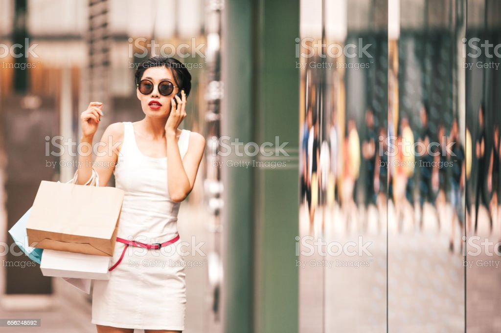 Woman shopping - foto stock