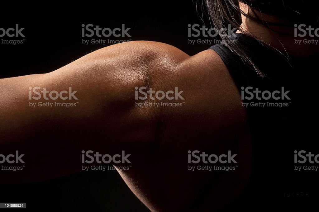 Woman shoulder royalty-free stock photo