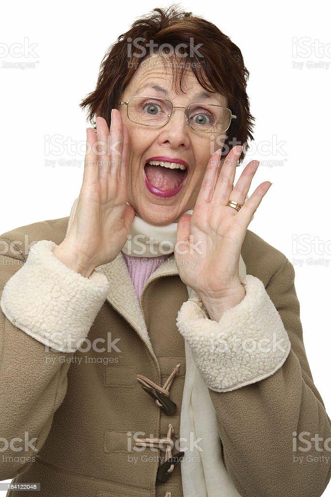 Woman Shouting royalty-free stock photo