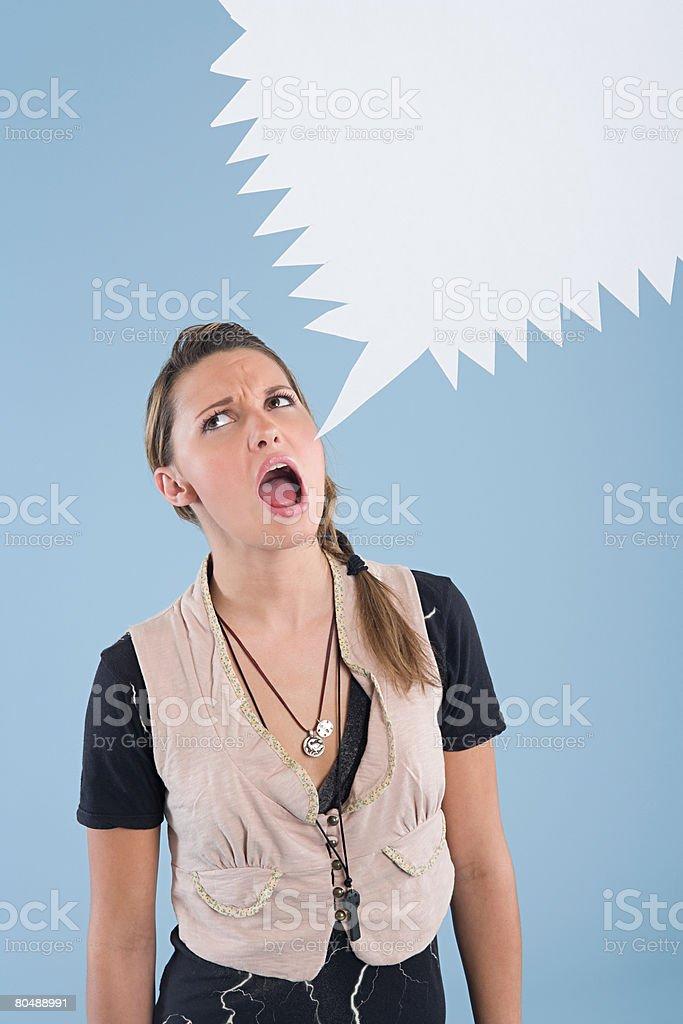 女性叫ぶ ロイヤリティフリーストックフォト