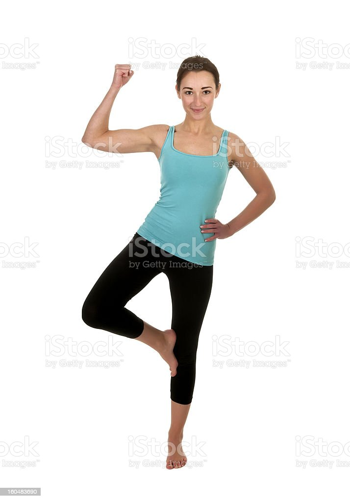woman showing her muscles royalty-free stock photo