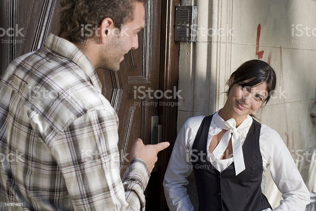 Woman showing scepticism royalty-free stock photo
