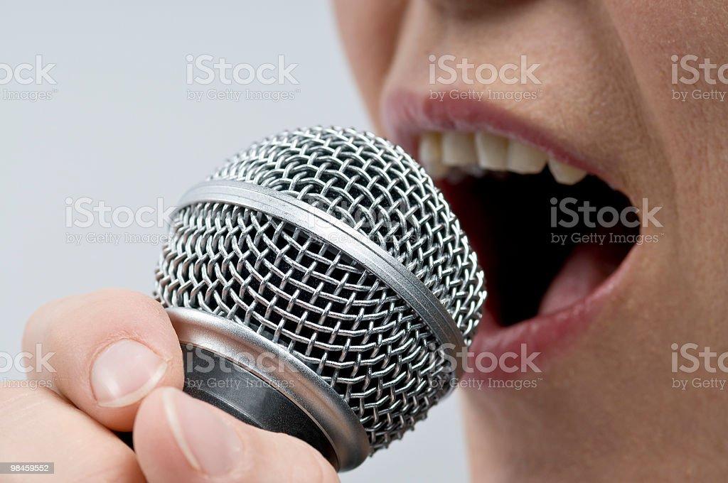 Woman Singing royalty-free stock photo