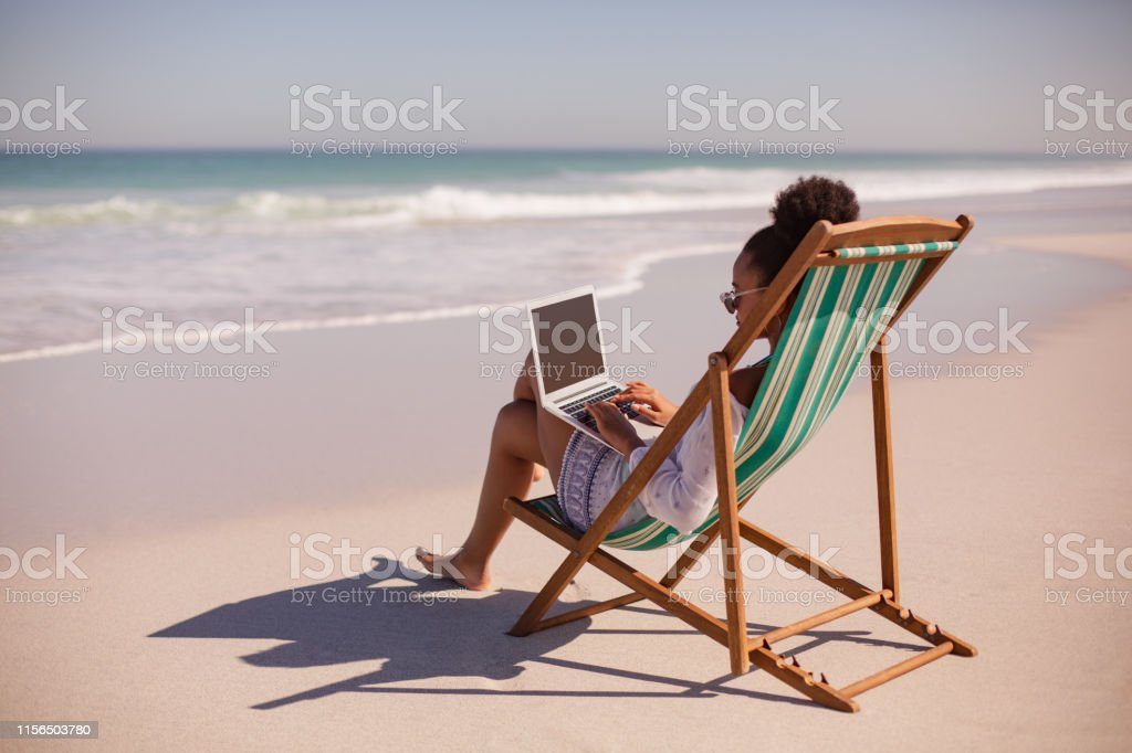 Woman Sitting On Beach Chair Images Search Images On Everypixel