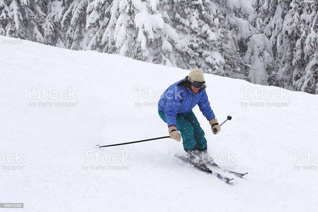 Mujer esquí foto de stock libre de derechos