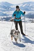 istock Woman Skijoring 941985082