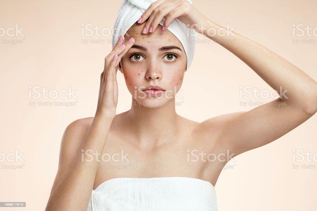 Woman skin care concept stock photo