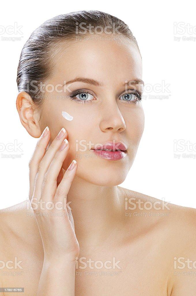 Woman skin care, studio shot royalty-free stock photo
