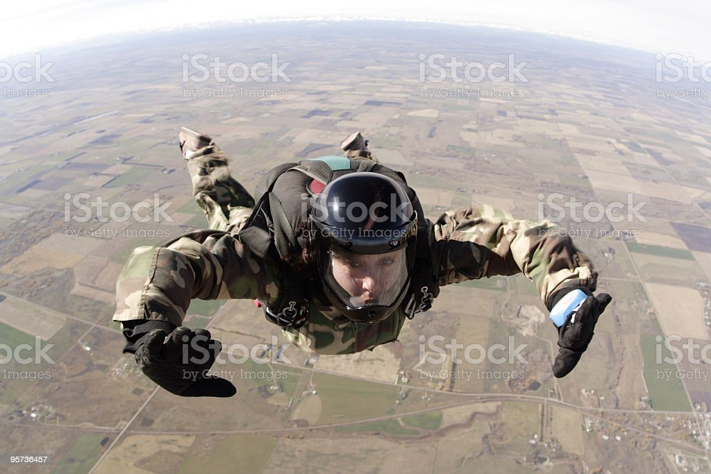 Woman Skydiver - skydive royalty-free stock photo