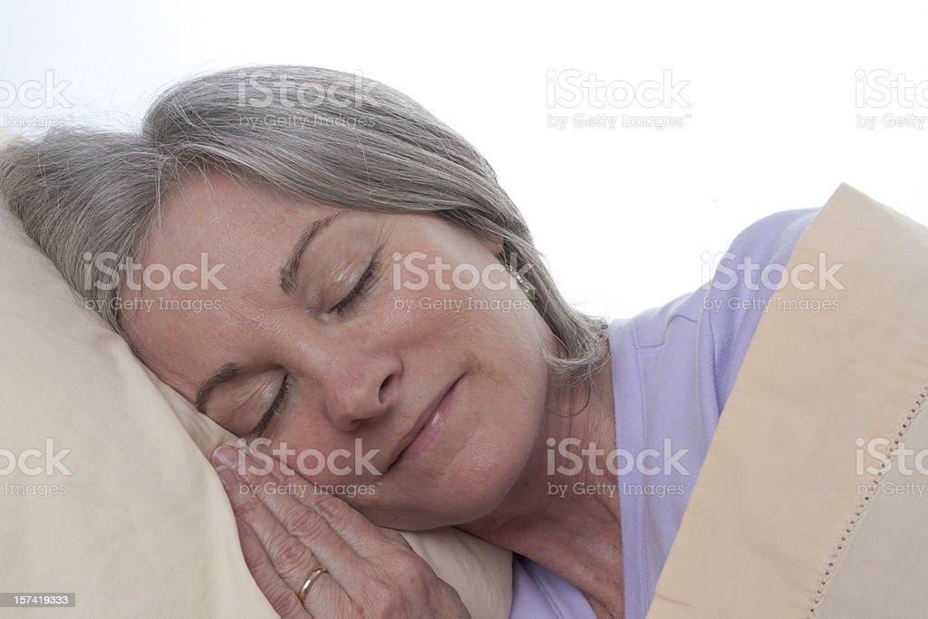 Woman Sleeping royalty-free stock photo