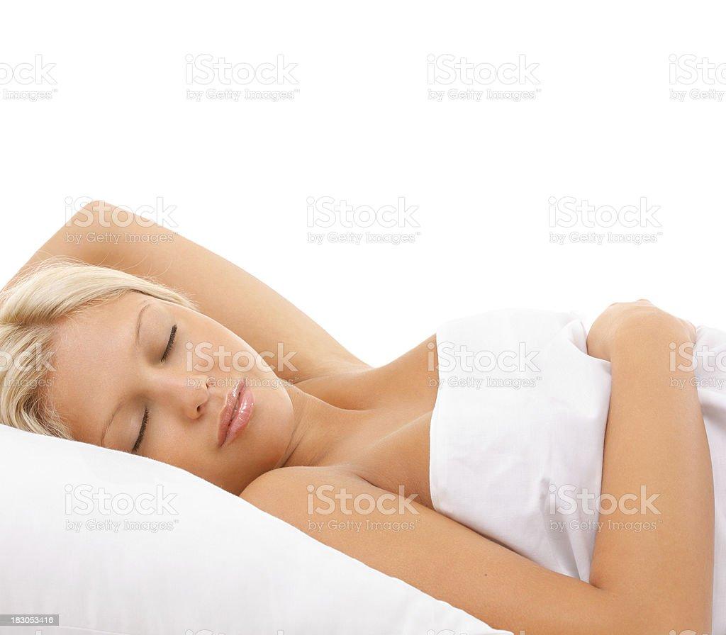Woman sleeping. royalty-free stock photo