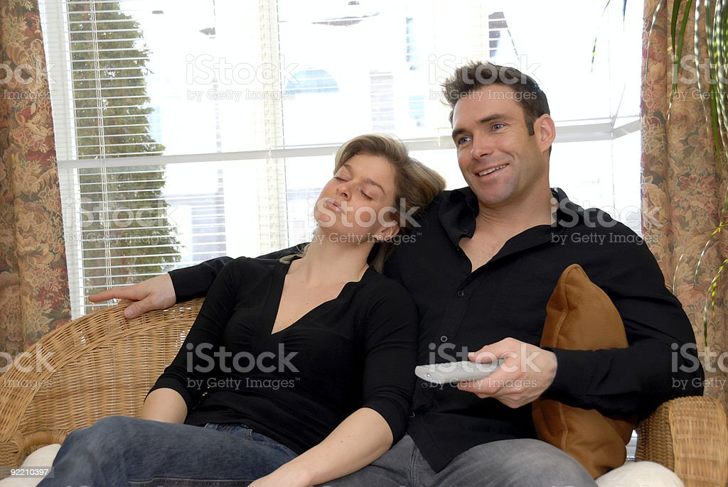 Woman sleeping stock photo