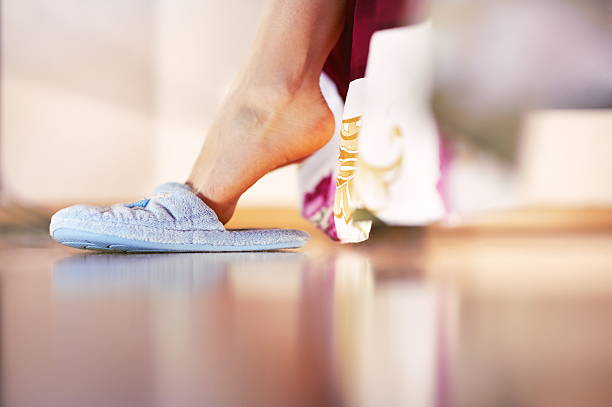 Woman slippers stock photo