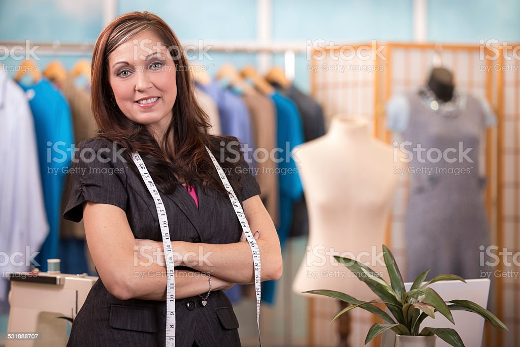 Woman Small Business Owner Tailor Fashion Designer Boutique Stock Photo Download Image Now Istock