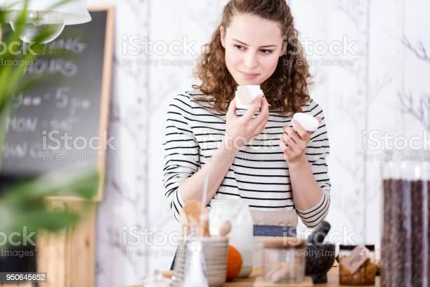 Woman smelling soaps picture id950645652?b=1&k=6&m=950645652&s=612x612&h=hzrbvm1mokmqc5jgk4hk9zshajvgxxuqmll8kyx4bsy=