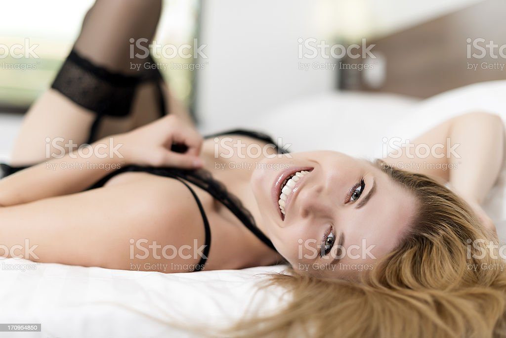 woman smile stock photo