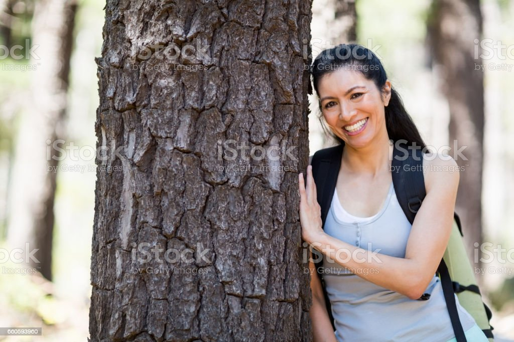 Woman smiling and posing royalty-free stock photo