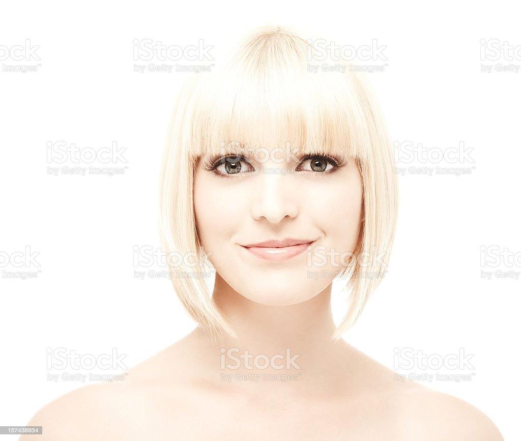 Woman Smiling at Camera royalty-free stock photo