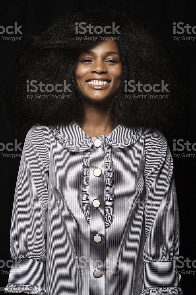Woman smiling, close-up, portrait royalty-free stock photo