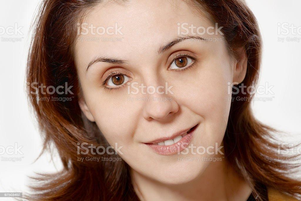 woman smiling headshot royalty-free stock photo