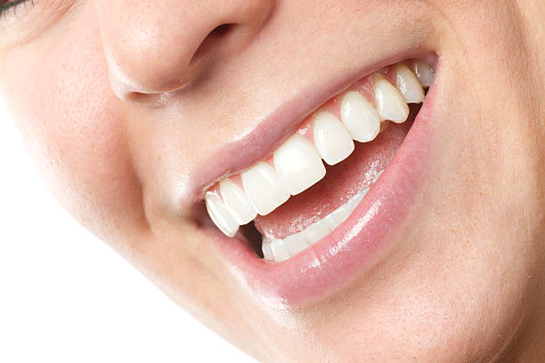 woman smiling - enamel stock photos and pictures
