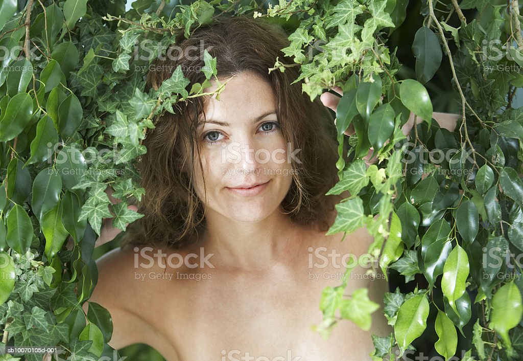 Woman smiling, portrait royalty-free stock photo