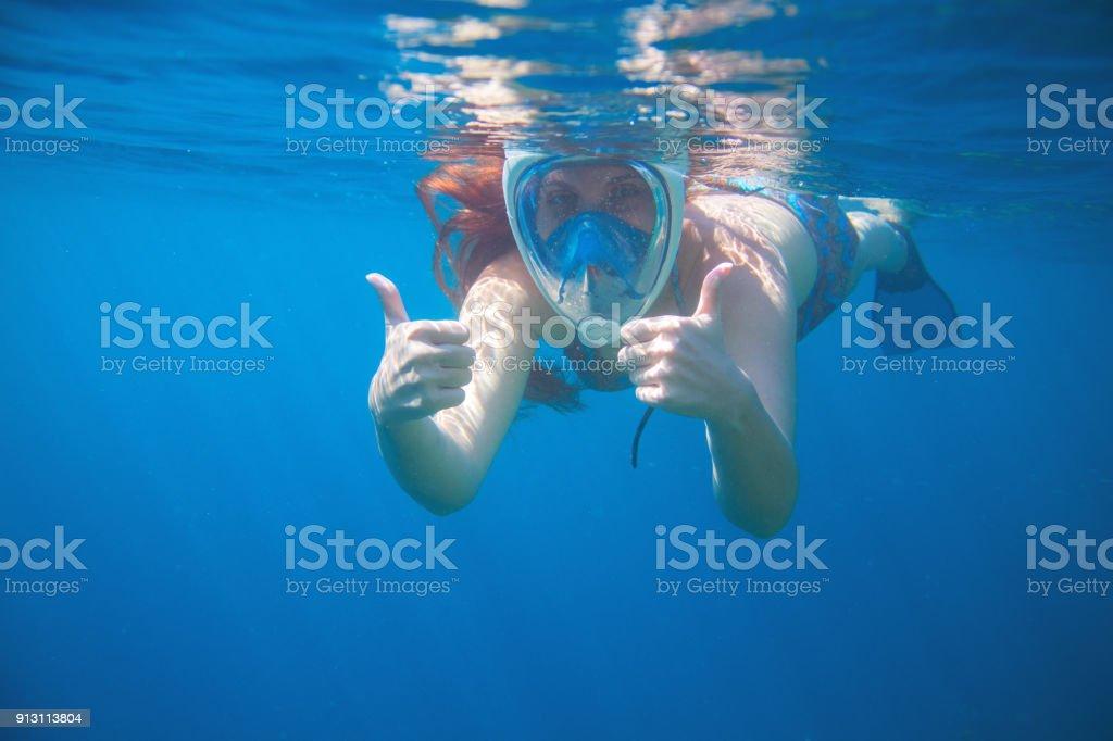 masque facial snorkeling