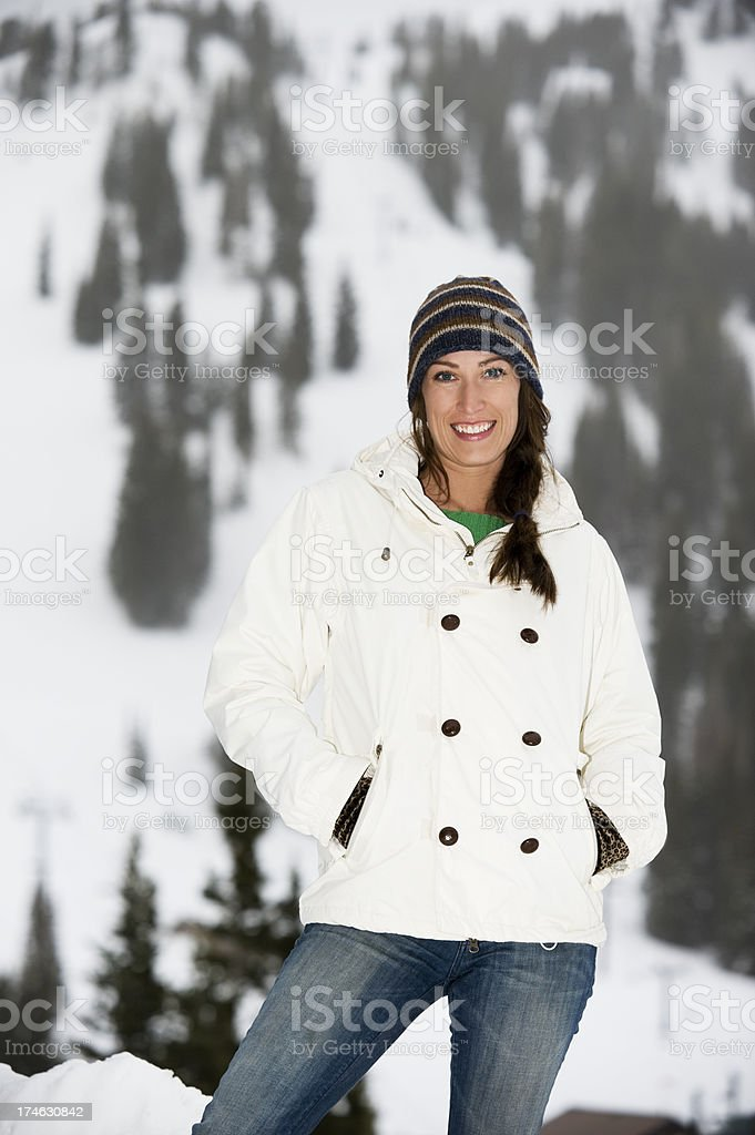 Woman Snowboarder royalty-free stock photo