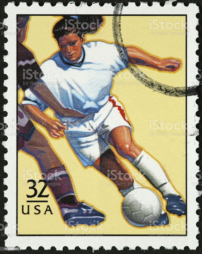 woman soccer player royalty-free stock photo