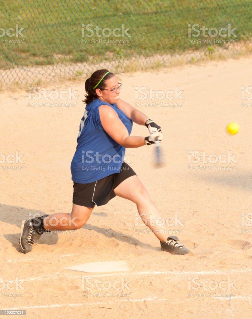 Woman Softball Batter stock photo
