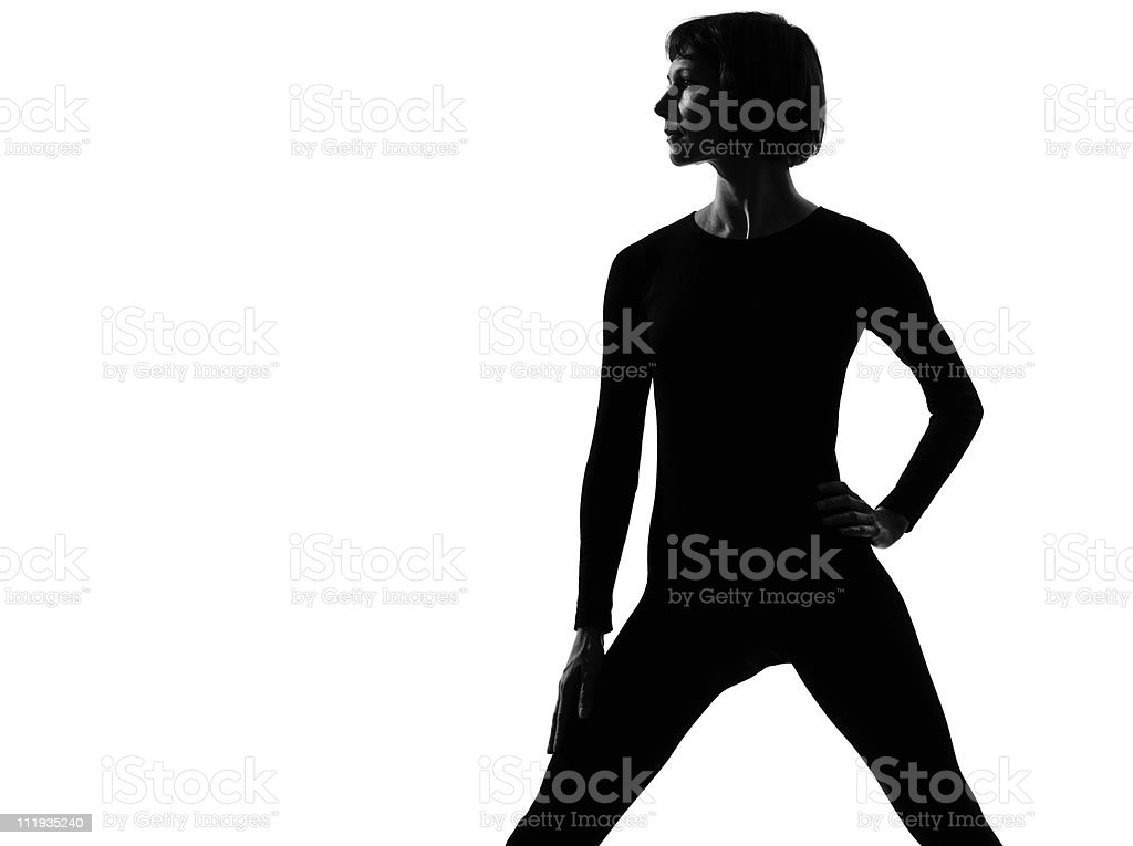 woman sportswear standing pose royalty-free stock photo