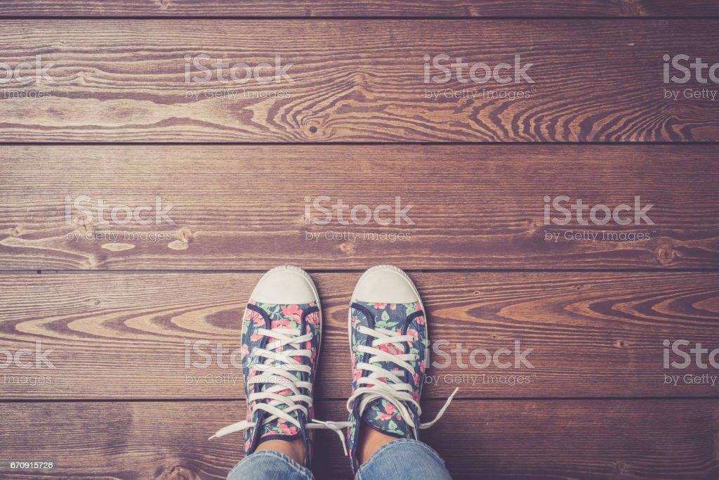 En Mujer El Madera Deporte Coloridas Piso Zapatillas De Pie hrsCxQdtB