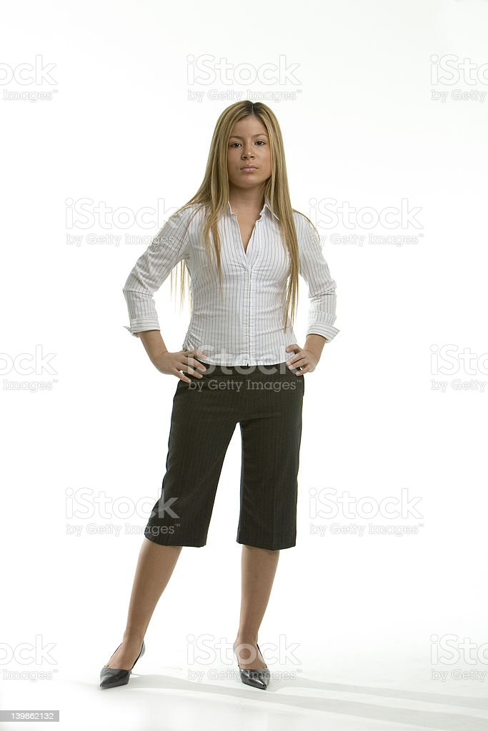 Woman standing royalty-free stock photo